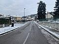 Avenue Joséphine Guillon (Miribel) sous la neige en février 2021.jpg
