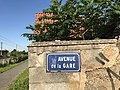 Avenue de la gare, Saint-Maurice-de-Beynost - plaque.JPG