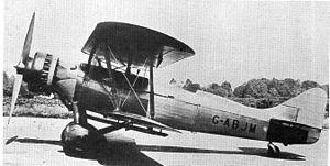 Avro 627 Mailplane - Image: Avro 627