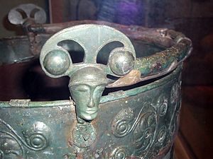 Aylesford - Detail of the Aylesford Bucket in the British Museum.