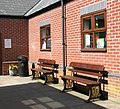 Aylsham station - reconstructed GWR seats - geograph.org.uk - 1819872.jpg