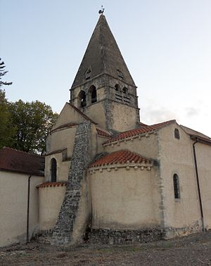 Bègues - The church in Bègues