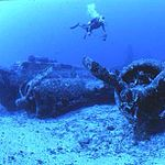 B-17 Flying Fortress Black Jack underwater wreck site (9304361834).jpg