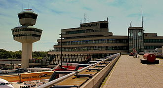 Berlin Tegel Airport - The main building with Terminals A and B inaugurated in November 1974