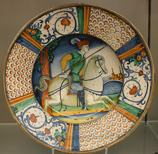 BLW Dish with man on horseback