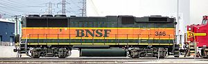 B unit - Image: BNSF GP60B 346