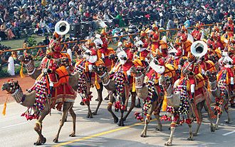 Delhi Republic Day parade - The unique BSF Camel Contingent during the annual Republic Day Parade in 2004.