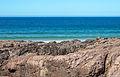 Bañista mirando á cámara na praia das Furnas. Porto do Son. Galiza-2.jpg