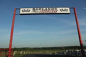 Badlands Motor Speedway - Entrance