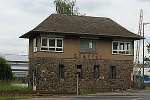Staffel station - Staffel station: northern signal box