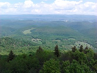Bald Knob (West Virginia) - View from the Bald Knob observation deck, accessed via Cass Scenic Railroad