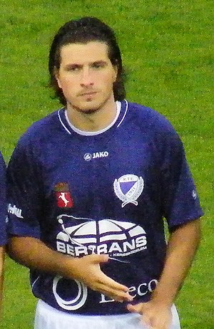 Béla Balogh (footballer) - Balogh playing for Kecskeméti TE in August 2010.