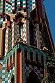 Barcelona - Carrer de les Carolines - View NW on Casa Vicens 1883-89 Antoni Gaudí.jpg