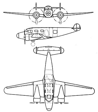 Barkley-Grow T8P-1 - Barkley-Grow T8P 3-view drawing from L'Aerophile February 1936