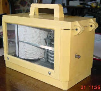 Barograph - A Sailplane barograph in its case