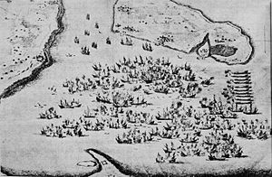 Blockade of La Rochelle - The Naval battle of Saint-Martin-de-Ré in front of Île de Ré in October 1622, in which the fleet of La Rochelle fought against Charles de Guise.