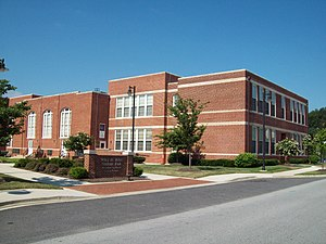 Black school - Wiley H. Bates High School in Annapolis, Maryland
