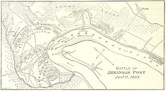 Battle of Arkansas Post - A map of the battle
