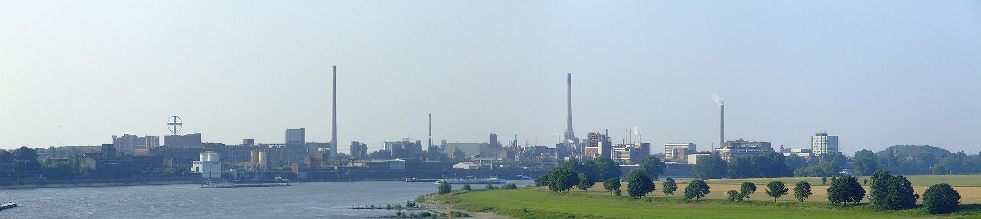 Panorama: Bayerwerk Uerdingen.