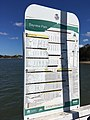 Bayview Park ferry wharf timetable board, October 2017.jpg