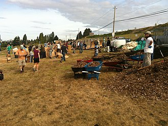 Beacon Food Forest - A ground-making event at Beacon Food Forest in 2012