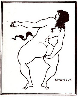 Beardsley, Aubrey 1872-1898 - Bathyllus taking the pose (1896).jpg