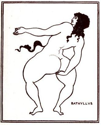 Bathyllus - Image: Beardsley, Aubrey 1872 1898 Bathyllus taking the pose (1896)