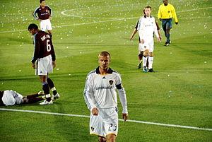 Beckham in the match Colorado Rapids vs. LA Ga...