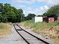 Bedale railway station, view towards Leyburn, Wensleydale Railway, North Yorkshire.jpg