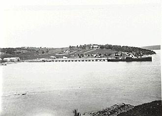Illawarra Steam Navigation Company - Illawarra Steam Navigation Company's SS Bega at Eden in 1903.