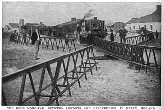 Railroad switch - A switch on the monorail Listowel and Ballybunion Railway, Ireland, in 1912