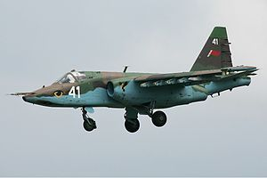 Belarusian Air Force - A Belarusian Su-25 in flight