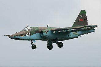 Belarusian Air Force - A Belarusian Su-25 in flight