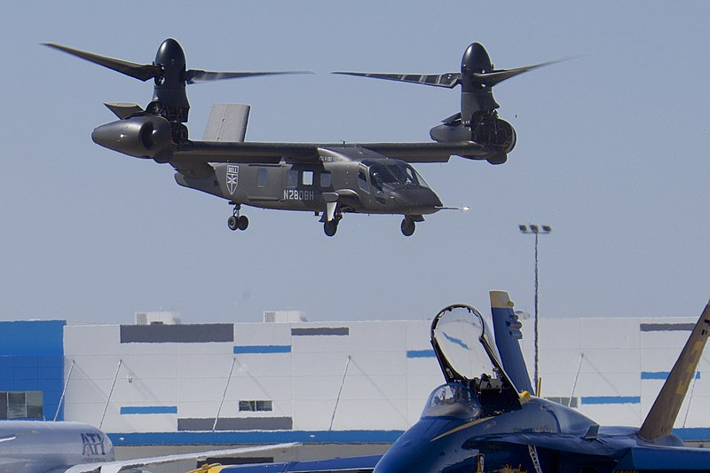 File:Bell V-280 Valor hover demo, 2019 Alliance Air Show.jpg