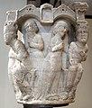 Benedetto antelami, capitello con storie bibliche, dal duomo di parma, 1178, regina di saba.jpg