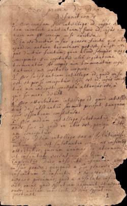 Benedictus de Spinoza - Ethica - manuscript page Pieter van Gent, Biblioteca Apostolica Vaticana (cropped).png