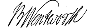 Benning Wentworth - Image: Benning Wentworth signature