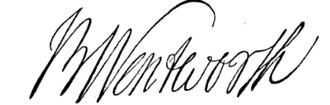 Benning Wentworth - Image: Benning Wentworth signature