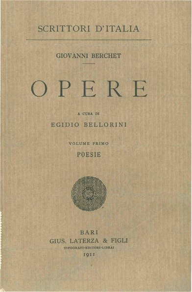 File:Berchet, Giovanni – Poesie, 1911 – BEIC 1754029.pdf