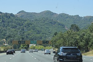 Berkeley Hills - The Berkeley Hills as seen from CA 24 near Orinda.