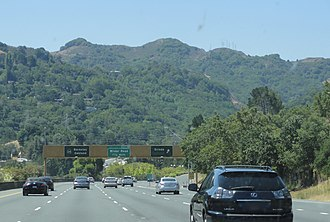 California State Route 24 - The Berkeley Hills as seen from CA 24 near Orinda.