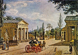 Potsdamer Platz - Artist's rendering of the new Potsdam Gate after completion.