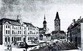 Bern, Burgerspial, Heiliggeistkirche und Christoffeltor um 1840.jpg