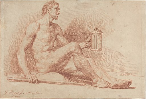 Bernard Picart, Male Nude with a Lamp (Diogenes), 1724, NGA 73505