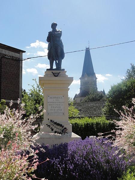 Berrieux (Aisne) monument aux morts