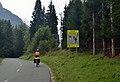 Beware of cyclists road signs, Vršič road in Kranjska Gora 01.jpg
