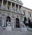 Biblioteca Nacional de España - Fachada em Comemoração aos 300 anos - construção (2).JPG
