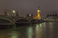Big Ben and Westminster Bridge at night.jpg