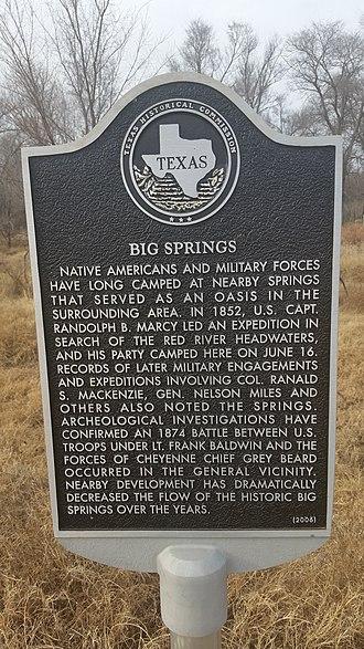 Lefors, Texas - Image: Big Springs, Texas