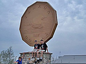 Macdonald, Meredith and Aberdeen Additional - The Big Loonie in Echo Bay.